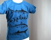 Sharks Kids T Shirt Organic Cotton