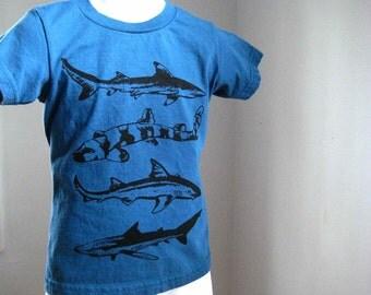Sharks Kids T Shirt Organic Cotton