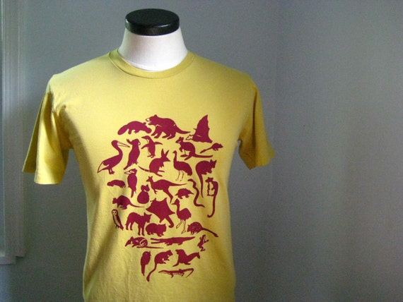 Australian Animals T Shirt Organic Men's/Unisex