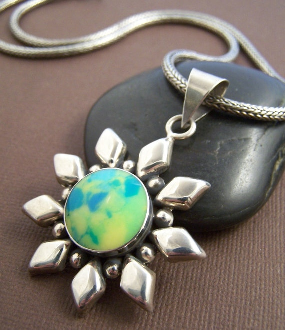 Sunshine On A Cloudy Day - Necklace Sterling Silver Pendant Necklace