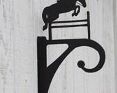 Jumping Horse Iron Plant Basket Hanger