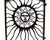 Garden Gate Aztec Sun Face South Western Metal Art