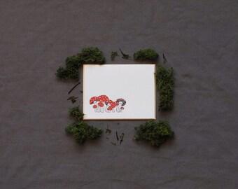Toadstool Monogram Stationery
