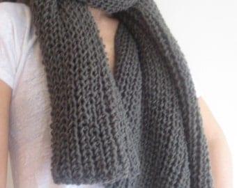 Grey Scarf, Knitting Scarf, Handmade Scarf #Grey Shawl, Women Scarf, Scarflette
