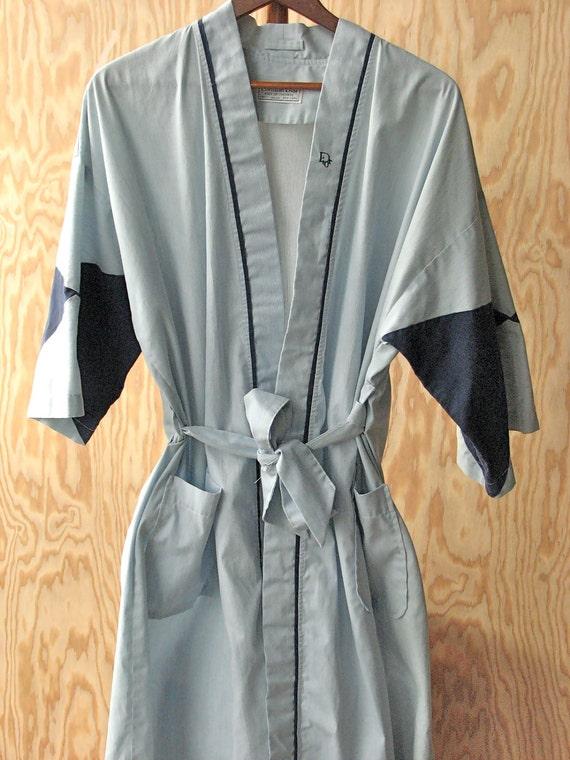 SALE // Vintage Christian Dior Striped Captain's Robe