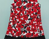 Dress - Red Floral Flapper