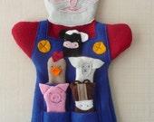 Hand puppet - Old Macdonald & Farmyard animal Finger Puppets