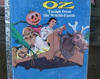 Return to Oz Escape from the Witch's Castle VINTAGE Childrens Book 1980s Little Golden Book