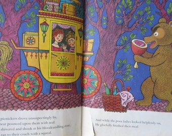 The Bad Bear VINTAGE 1960s Childrens Book with Colorful and Fun Illustrations
