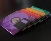 Floppy Disk Coasters - Cool Colors - Geeky Decor Gift - Tech Lover - Geeky Father's Day Gift - As seen on The Big Bang Theory