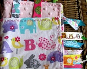Baby Sensory Tag Blanket - Large - A B C Annimals