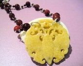 For the Love of Change and Transformation           ( Carved Jade Necklace)