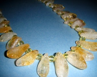 Reserved for Starseedgoddesss1111   For the Love of Molly             (Citrine Necklace)