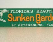 Sunken Gardens Florida vintage bumper sticker tucan saint petersburg family vacation old florida style