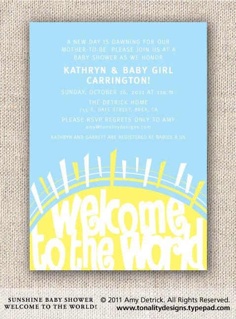 baby shower invitation welcome sunshine invite sunshine