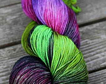 Hand Dyed Merino Sock Yarn- Kettle Dyed - 100g