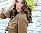 Chunky Crochet Hat Slouchy Beanie Spring Green Teenage Girls and Women Winter Fashion Womens Slouchy Hat Crochet Teen Hats Slouchy Hat