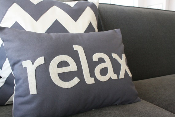 Relax Pillow in Charcoal Gray
