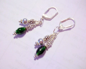 Spring Time in Green Earrings  Free Shipping in USA