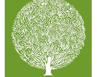 Green Tree Print - Different Sizes