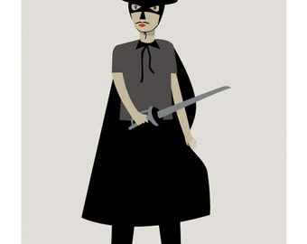 El Zorro Print - Different Sizes