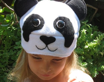 Fleece-LIned Panda Hat