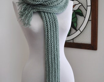 SALE Hand Knitted Sea Spray Skarf