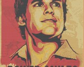 Dexter Morgan Power-Saw To The People PDF cross stitch pattern