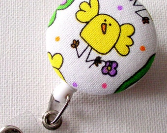 Easter Chick - Retractable ID Badge Reel - Holiday Badge Holder - Nurse Badge Clip - Teacher Badge Pull - Cute ID Badge
