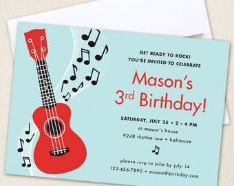 Rock Star Party Invitations - Professionally printed *or* DIY printable
