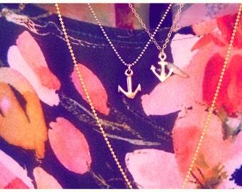 Tiny Bronze Anchor Necklace (for HHCRI)