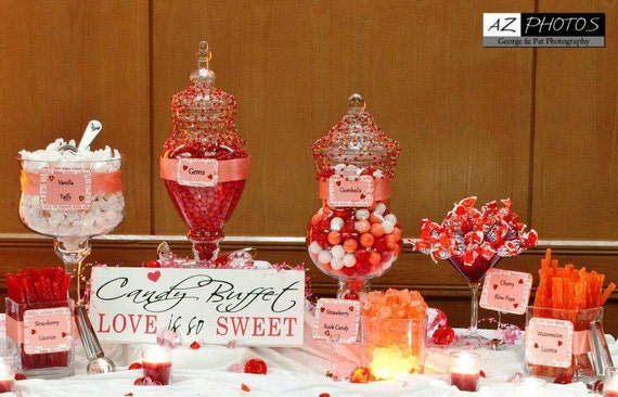 items similar to candy buffet sign wedding sign wedding reception decoration candy bar. Black Bedroom Furniture Sets. Home Design Ideas