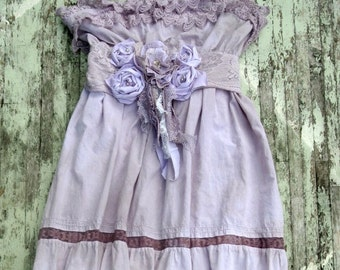 Romantic Maxi Dress, gypsy rose Boho dresses, RESERVED 6 Bridesmaid Dresses, cottage Chic, prairie girl, lilac sundress, True rebel clothing