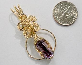 Amethyst Encircled in 14kt Gold Filled