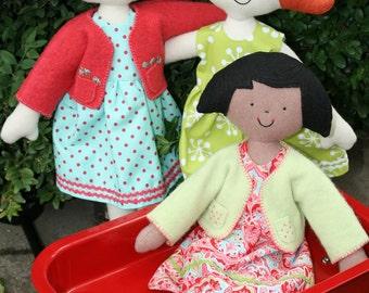 Kinder Girls Rag Doll Pattern