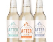 Wedding Beer Labels / 24 Personalized Wedding Favors, Bridal Showers, Rehearsal Dinners, Engagement Parties / Bride & Groom High Five