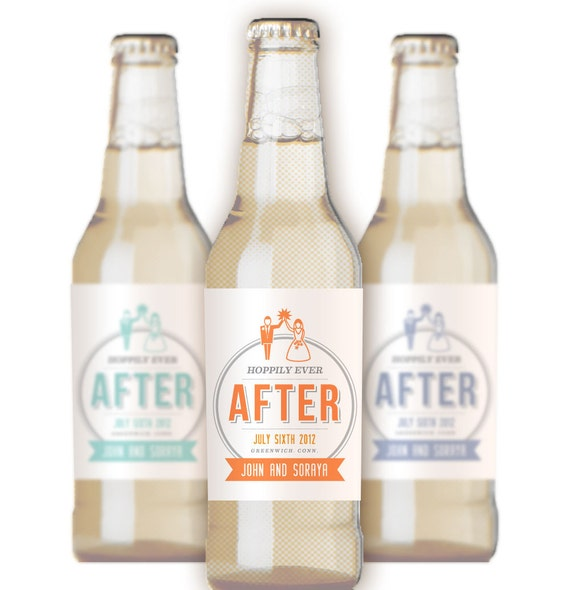 Custom Beer Bottle Labels Personalized Wedding By: Items Similar To Wedding Beer Labels / 24 Personalized