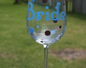 8 Name Decals for Brides and Bridesmaids DIY Wine Glass kit