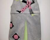 Gray Fleece Dress Clown Jumper, size 4