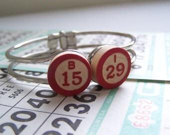 Repurposed Vintage Bingo Bracelet Hinged