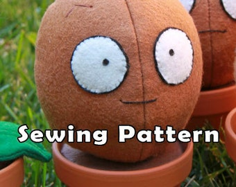 PDF DOWNLOAD Sewing Pattern Wallnut Shell in a Clay Pot