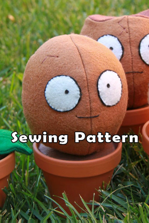PDF DOWNLOAD Sewing Pattern Wallnut Shell in a Clay Pot