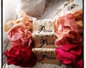 Seam Binding - Hand Dyed - Pretty Pink Mademoiselle - Crinkled - French Market - xo, j&L (SBHD S012)