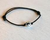Yin Yang Bracelet / Yin Yang Anklet (many colors to choose)