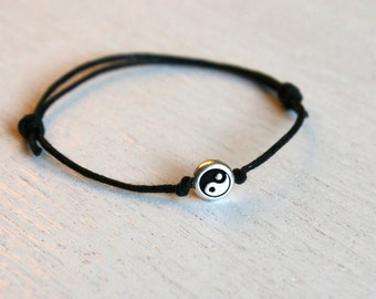Yin Yang Bracelet / Yin Yang Anklet (many colors to choose)