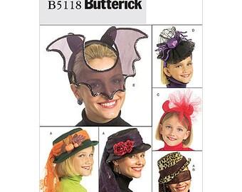 Sew & Make Butterick B5118 P202 Sewing Pattern - Womens Steampunk Halloween Costume Hats Mask