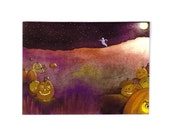 Halloween Card, Halloween Greeting Card, Handmade Halloween Card, Handmade Greeting Card, Halloween Greeting