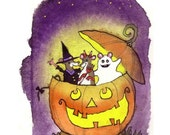 Halloween Card, Halloween Greeting Card, Handmade Halloween Card, Handmade Greeting Card, Halloween Greeting, Halloween For Kids