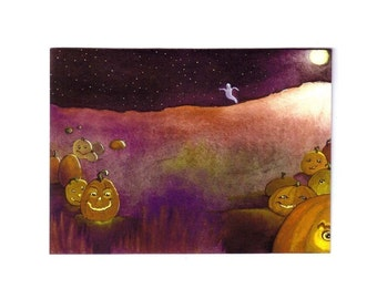 Halloween Card, Halloween Greeting Card, Handmade Halloween Card, Handmade Greeting Card, Halloween Greeting