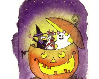 Halloween Card, Halloween Greeting Card, Handmade Halloween Card, Handmade Greeting Card, Halloween Greeting, Halloween For Kids